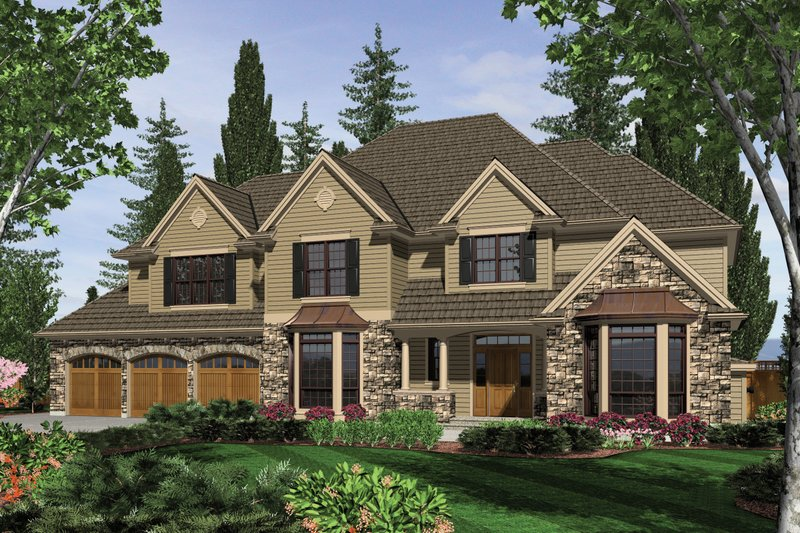 Traditional Exterior - Front Elevation Plan #48-621