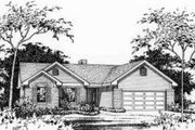 Traditional Style House Plan - 3 Beds 2 Baths 1537 Sq/Ft Plan #22-464 Exterior - Other Elevation