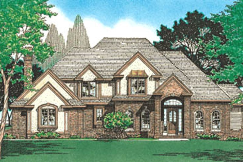 European Exterior - Front Elevation Plan #20-1144