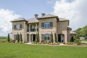 Mediterranean Style House Plan - 4 Beds 4.5 Baths 3474 Sq/Ft Plan #930-276 Exterior - Front Elevation