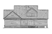 Southern Style House Plan - 4 Beds 4 Baths 2535 Sq/Ft Plan #45-229 Exterior - Rear Elevation