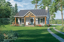 Home Plan - Country Exterior - Front Elevation Plan #21-465