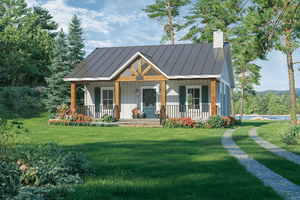 Country Exterior - Front Elevation Plan #21-465