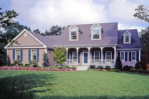 Southern Exterior - Front Elevation Plan #456-4