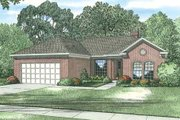 Traditional Style House Plan - 3 Beds 2 Baths 1702 Sq/Ft Plan #17-2285 Exterior - Front Elevation