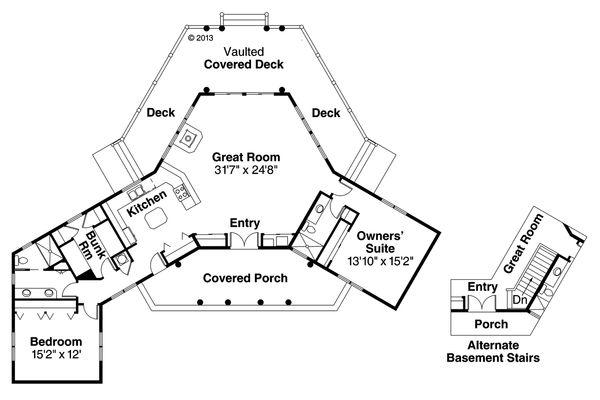 Ranch Floor Plan - Main Floor Plan Plan #124-205