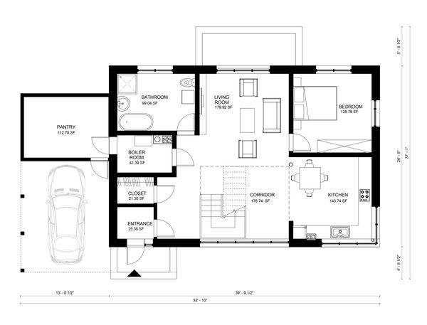 Contemporary Floor Plan - Main Floor Plan Plan #906-4