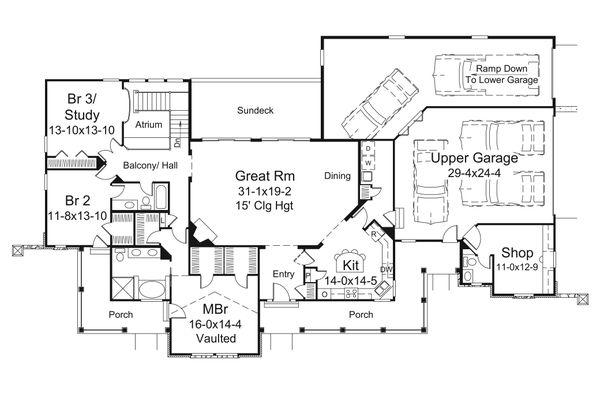 Dream House Plan - Country Floor Plan - Main Floor Plan #57-691
