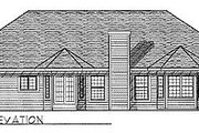 Traditional Style House Plan - 3 Beds 2.5 Baths 1926 Sq/Ft Plan #70-243 Exterior - Rear Elevation