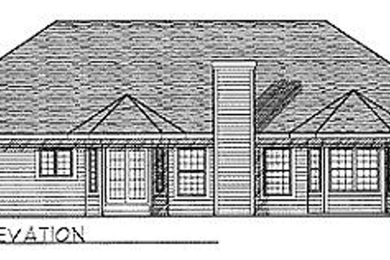 Traditional Exterior - Rear Elevation Plan #70-243 - Houseplans.com