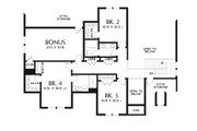 European Style House Plan - 4 Beds 3.5 Baths 2884 Sq/Ft Plan #48-931 Floor Plan - Upper Floor Plan