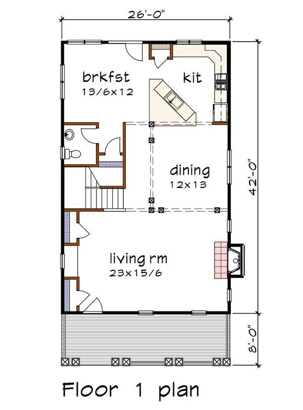 Country Floor Plan - Main Floor Plan Plan #79-263