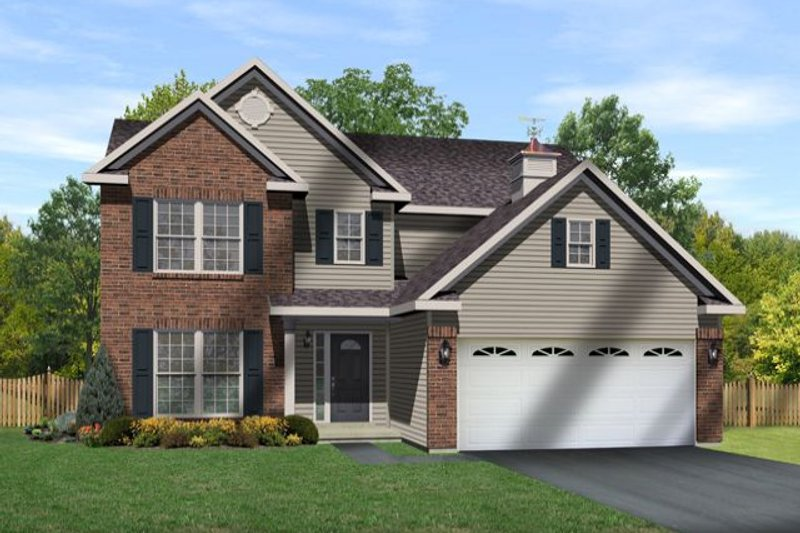 Home Plan - Traditional Exterior - Front Elevation Plan #22-463