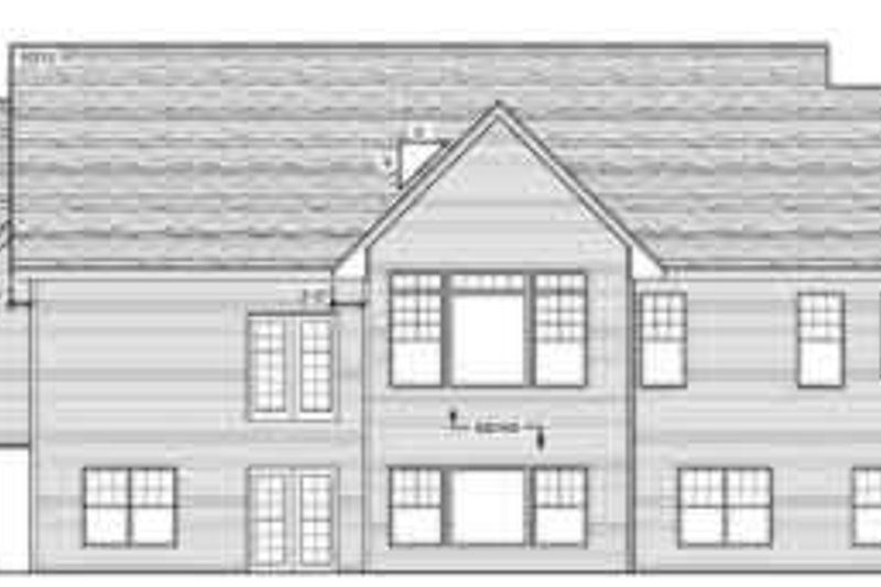 Country Exterior - Rear Elevation Plan #51-207 - Houseplans.com