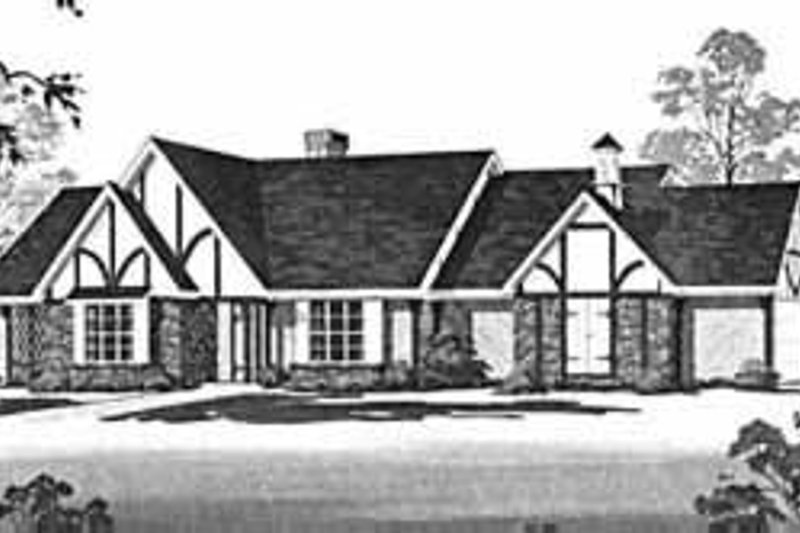 Tudor Exterior - Front Elevation Plan #36-392