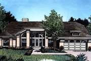 Mediterranean Style House Plan - 4 Beds 2 Baths 2041 Sq/Ft Plan #417-185 Exterior - Front Elevation