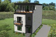Contemporary Style House Plan - 3 Beds 3.5 Baths 2200 Sq/Ft Plan #932-317 Exterior - Front Elevation