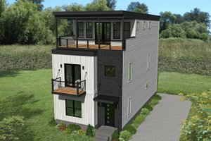 Contemporary Exterior - Front Elevation Plan #932-317