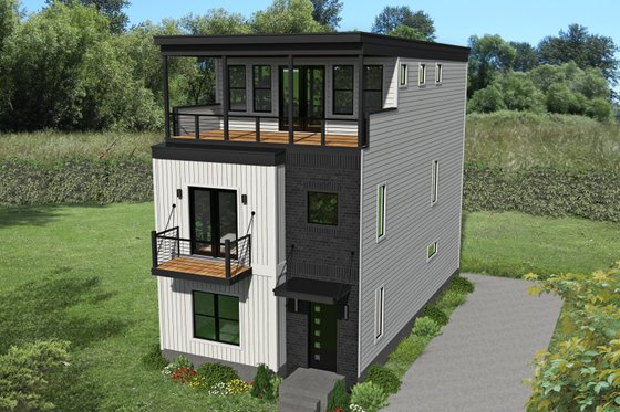 Home Plan - Contemporary Exterior - Front Elevation Plan #932-317