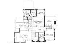 European Floor Plan - Upper Floor Plan Plan #413-108