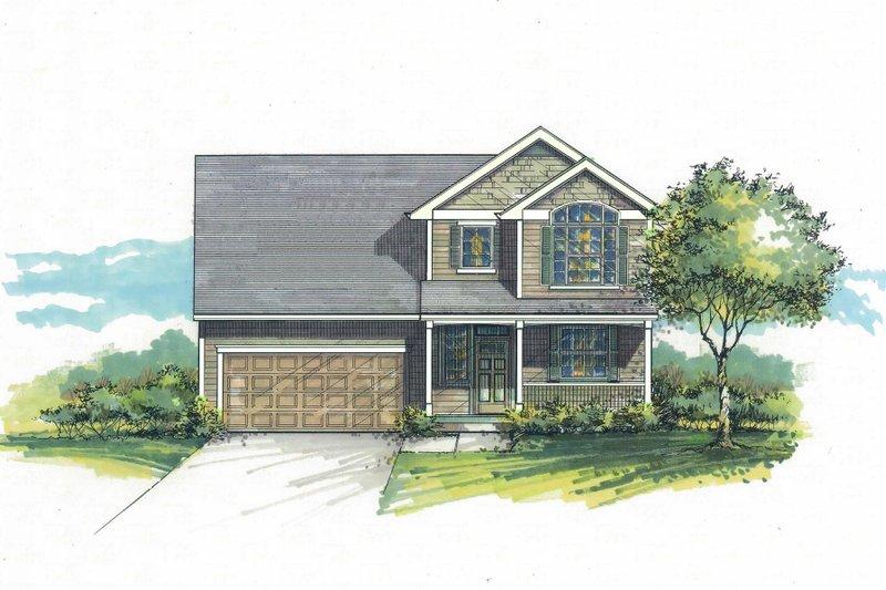 Architectural House Design - Craftsman Exterior - Front Elevation Plan #53-597