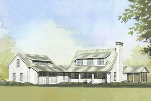 Farmhouse style, country design home, front elevation