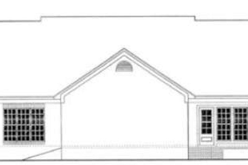 Southern Exterior - Rear Elevation Plan #406-239 - Houseplans.com