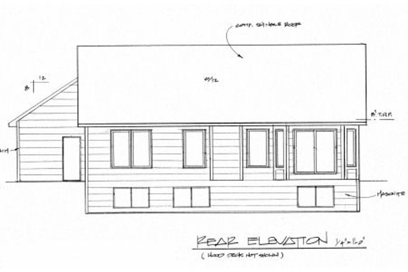 Traditional Exterior - Rear Elevation Plan #58-178 - Houseplans.com