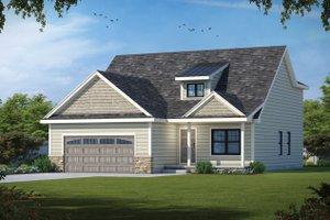Cottage Exterior - Front Elevation Plan #20-2486