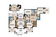 Southern Style House Plan - 5 Beds 6 Baths 9992 Sq/Ft Plan #27-534 Floor Plan - Upper Floor Plan