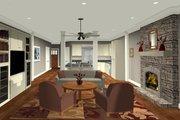 Craftsman Style House Plan - 3 Beds 2 Baths 1499 Sq/Ft Plan #56-704
