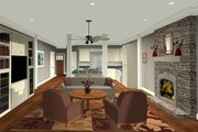 Craftsman Style House Plan - 3 Beds 2 Baths 1499 Sq/Ft Plan #56-704 Interior - Family Room