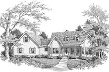 Dream House Plan - Country Exterior - Front Elevation Plan #14-232