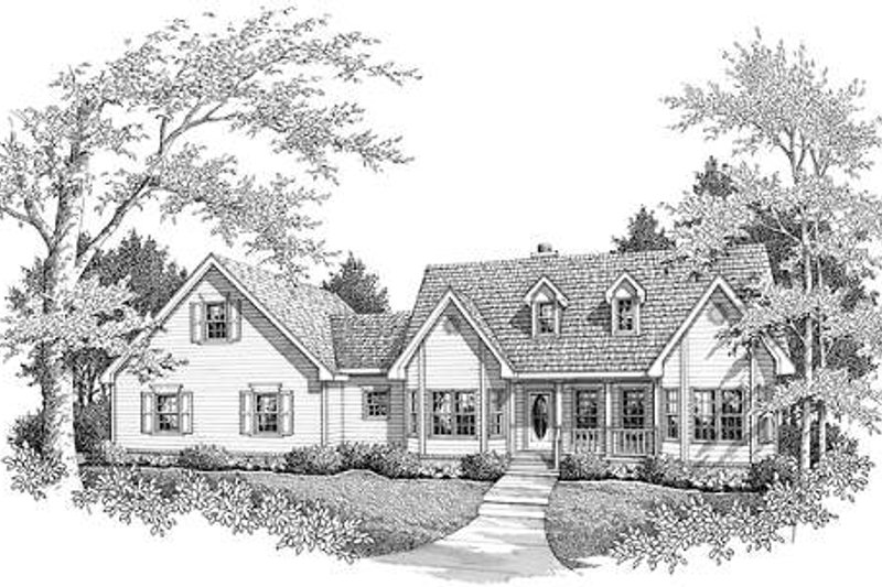 Country Exterior - Front Elevation Plan #14-232