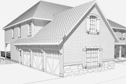 Craftsman Style House Plan - 4 Beds 4.5 Baths 5736 Sq/Ft Plan #123-114 Exterior - Other Elevation