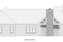 Home Plan - Traditional Exterior - Rear Elevation Plan #932-167