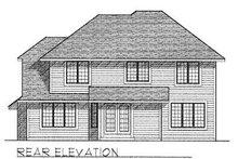 Traditional Exterior - Rear Elevation Plan #70-372