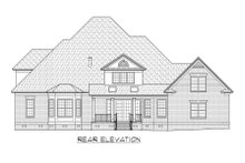 Dream House Plan - Traditional Exterior - Rear Elevation Plan #1054-58