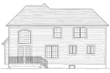Dream House Plan - Traditional Exterior - Rear Elevation Plan #46-426