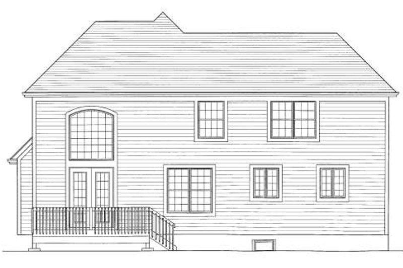 Traditional Exterior - Rear Elevation Plan #46-426 - Houseplans.com