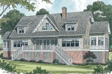 Craftsman Exterior - Rear Elevation Plan #453-19