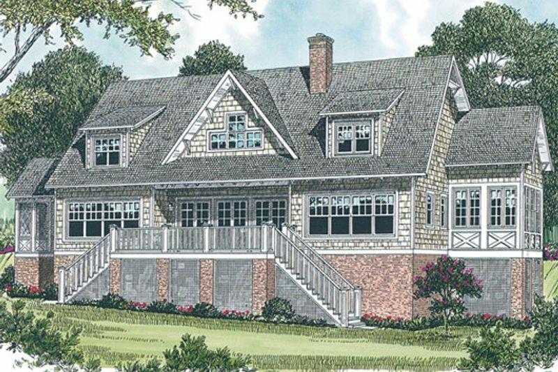 Craftsman Exterior - Rear Elevation Plan #453-19 - Houseplans.com