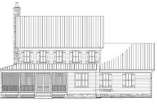 Country Exterior - Rear Elevation Plan #137-255