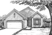 Dream House Plan - European Exterior - Front Elevation Plan #310-892