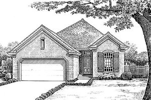 European Exterior - Front Elevation Plan #310-892
