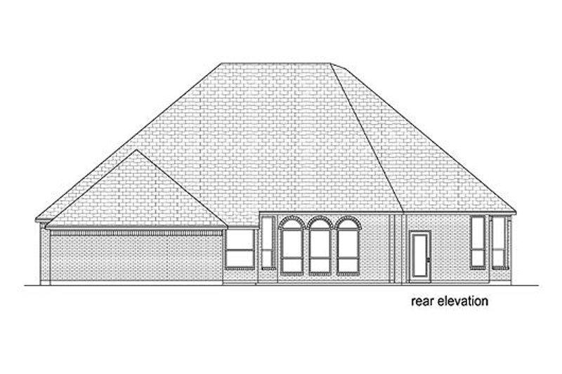 European Exterior - Rear Elevation Plan #84-532 - Houseplans.com