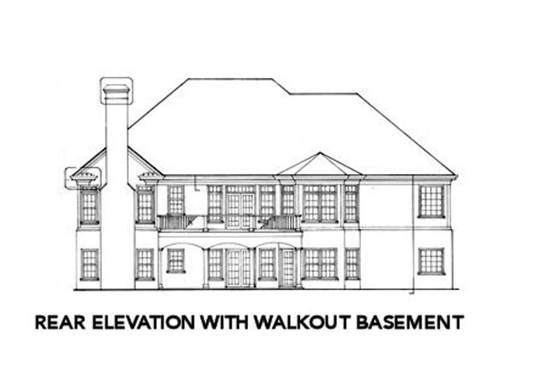 Country Exterior - Rear Elevation Plan #429-25 - Houseplans.com