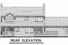 House Blueprint - Country Exterior - Rear Elevation Plan #18-261