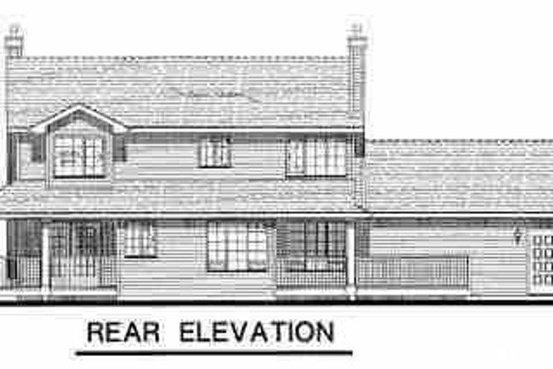 Country Exterior - Rear Elevation Plan #18-261 - Houseplans.com