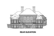 Colonial Exterior - Rear Elevation Plan #429-8